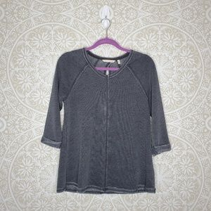Soft Surroundings Grey Crewneck Sweater PXS